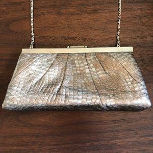 Gunn Sax Clutch Copper/Silver Snake Skin Pattern